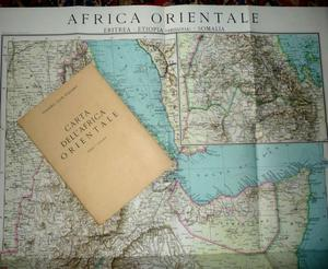 Storica CARTA DELL'AFRICA ORIENTALE,