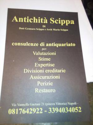 Antichità Scippa - stime - valutazioni
