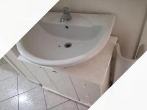 Mobiletto copricolonna lavabo per bagno posot class for Mobile bagno usato