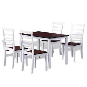 vidaXL Set Tavolo da pranzo in legno e 4 sedie bianco