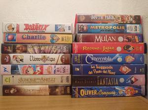Lotto film, anime e cartoni animati in VHS