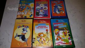 N° 6 VHS Walt Disney originali
