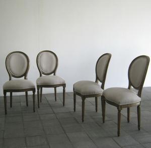 set 4 sedie in stile luigi XVIII rivisitate,becara tavolo