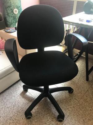 Coppia di sedie da ufficio - blu e nera