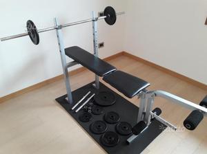 Panca bilanciere e pesi
