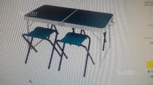 Tavolo campeggio con 4 sedie