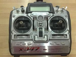 Radiocomando JR X347 completo di modulo TX e ricevente PCM