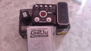 Pedaliera ZOOM G2.1u,multieffetto per chitarra