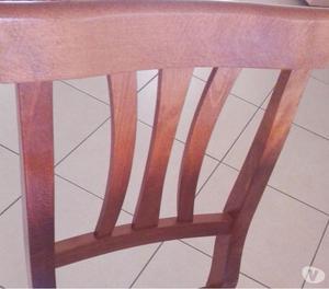 Tavolo soggiorno in legno massello noce con sedie posot for Sedie da cucina in legno e paglia