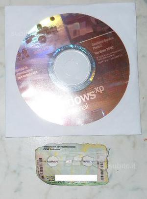 Windows XP Professional SP2 Con Licenza