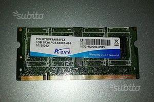 1x RAM DDR2 1GB SoDIMM (Notebook)