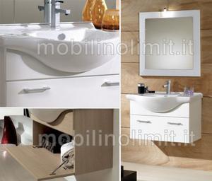 Mobile Bagno Sospeso - Bianco Lucido (105 cm