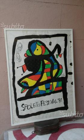 Manifesto Festival di Spoleto '81 ad olio