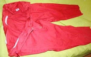 Pantaloni rossi elasticizzati tg 54 gamba corta