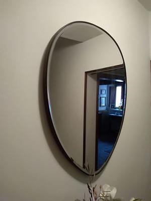 Specchio per bagno ovale con telaio in ottone posot class - Specchio ovale per bagno ...