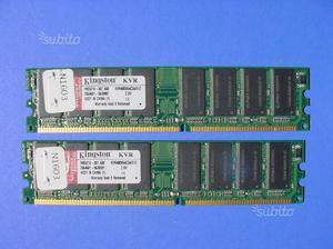 Memoria RAM 1GB DDR 400 KINGSTON