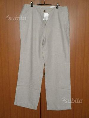 Pantaloni di lino donna tg 46 NUOVI con cartellino
