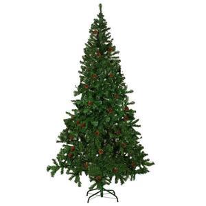 vidaXL Albero di Natale Artificiale con Pigne 210 cm