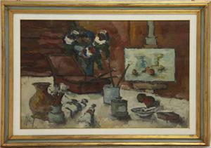 Aldo Kobal pittore olio su tela