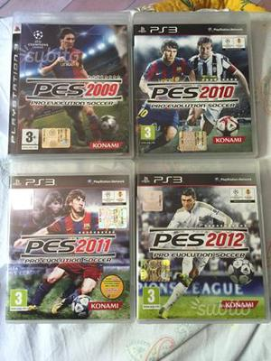 Giochi Ps3 Pes  lotto 4 giochi calcio