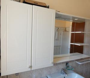 Mobile bagno bianco specchiera 2 luci