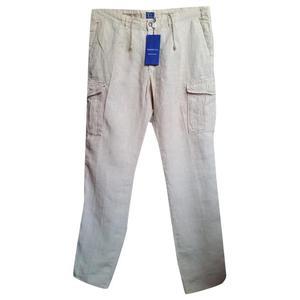 pantaloni in lino tg54
