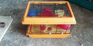 Gabbia per criceto/topolino con accessori