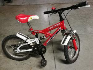 """Bici Bimbo Bi-ammortizzata 16"""" + Bici 12"""""""