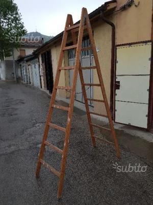 Scala a pioli in legno 8 gradini