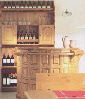 Mobili rustici: Bancone Bar con piattaia prezzo fabbrica.