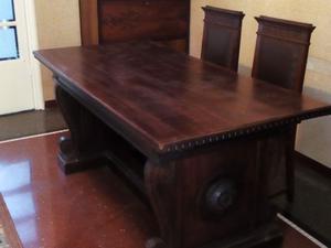 tavolo con 4 sedie primi 900 in noce