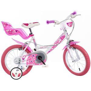 Dino Bikes Bicicletta per Bambini Little Heart Rosa 40 cm