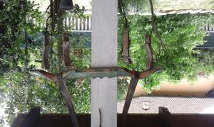 Aratro lungo 3 metri con punta in ferro e basto