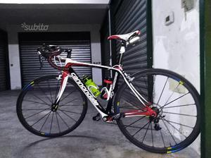 Bici da corsa cannondale carbonio