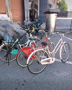 Biciclette rossa e rosa,ruote 24 e 26