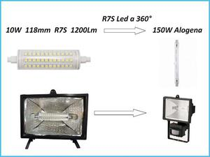 Portalampada r7s per lampada alogena 118mm posot class for Lampada led lineare r7s
