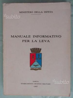 Libro:Manuale informativo per la leva-