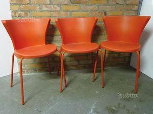 Sedie Rosse Calligaris : 4 sedie rosse di design in eco pelle posot class