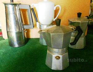 4 caffettiere vintage anni 80