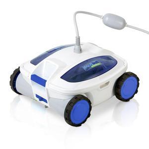 Gre Robot per Pulizia Piscina Track Bianco e Blu RT1S