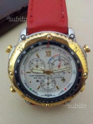 Orologio citizen chronograph wr 100 acciaio oro