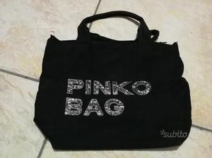 Pinko Bag tessuto nera paillettes