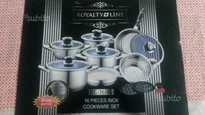Set batteria pentole Royalty line, acciaio