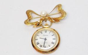 Spilla orologio oro 18 KT epoca  (PONTEVICO)