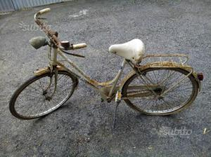 Bianchi bici da donna d'epoca freno a bacchetta