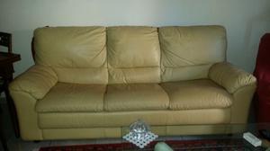 Divani in vera pelle, 3 posti con letto + 2 posti con seduta