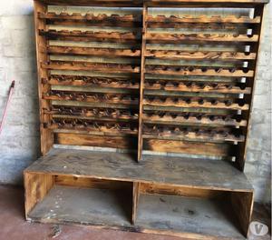 Mobile portabottiglie in legno posot class for Mobile porta bottiglie