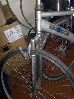 """Forcella ammortizzata 28"""" per bici Decatlon"""