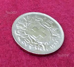 Marengo d'Oro 20 Franchi Svizzeri  LB, Oro 900