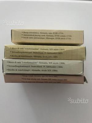 Riproduzione antichi mazzi carte da gioco tedesche